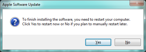 Reboot now? Seriously?